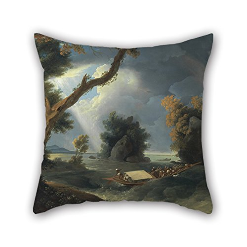 [Beautifulseason 16 X 16 Inches / 40 By 40 Cm Oil Painting William Hodges - Storm On The Ganges, With Mrs. Hastings Near The Col-gon Rocks Throw Cushion Covers,each Side Is Fit For Club,study] (Crosby Halloween Costume)