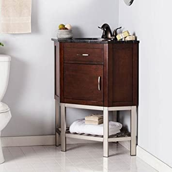 Corner Single Sink Bath Vanity Amazoncom