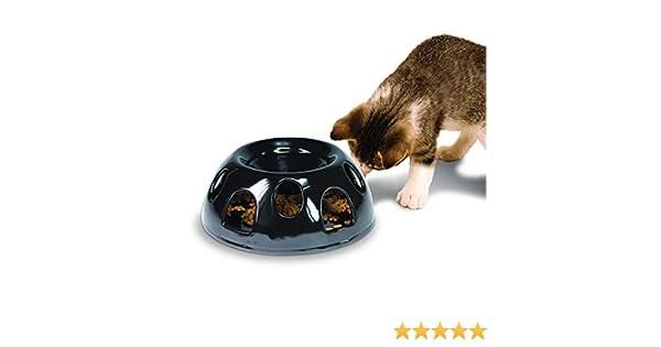 Smart Cat Pioneer Mascota Tigre el Diner - Alimentos de cerámica/Cuenco, Negro: Amazon.es: Productos para mascotas