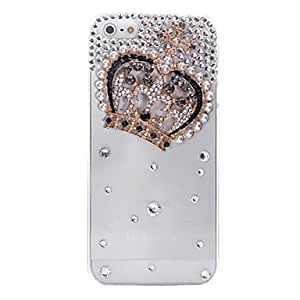 Crown Jewelry Covered Back Case for iPhone 5/5S(Assorted Color) --- COLOR:Transparent