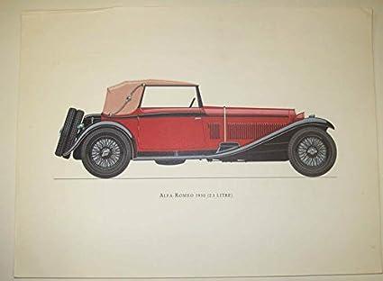 Alfa Romeo 6c >> Amazon Com 1930 Alfa Romeo 6c 2300 Frameable Print Poster