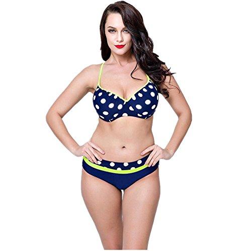 MIAO Traje de baño de gran tamaño bikini Añadir Fertilizante para aumentar la grasa de dos piezas Beach Swimsuit Set yellow straps