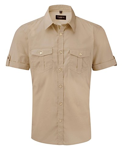 Russell Collection - Camisa casual - para hombre Khakifarben