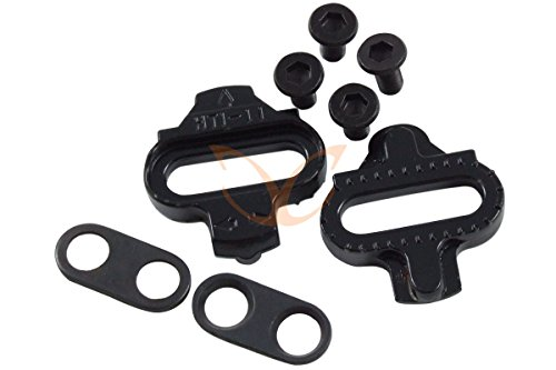 1 Pair Shimano Compatible SPD Pedal Cleats with Washers and Screws, CarbonCycles