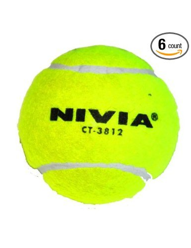 (Nivia Heavy Tennis Ball Cricket Ball (Pack of 6), Yellow)
