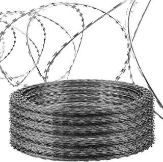 (OrangeA Razor Wire Galvanized Barbed Wire Razor Ribbon Barbed Wire 18