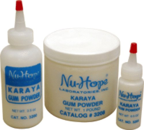 Powder Gum Karaya (Nu-Hope Laboratories Karaya Gum Powder 1/2Oz Squeeze Bottle (1 Bottle))