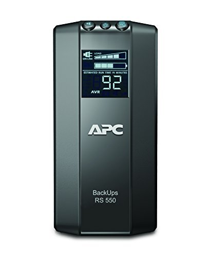 APC by Schneider Electric Back UPS PRO - BR550GI - USV 550VA (Stromsparfunktion, Multifunktionsdisplay, inkl. 150.000 Euro Ge