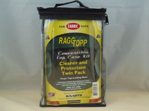 Raggtopp Convertible Top Care Kit - Fabric Cleaner and Protectant Twin - Convertible Cars Tops For