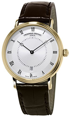 Frederique Constant Men's Slim Line Gold-Tone Stainless S...