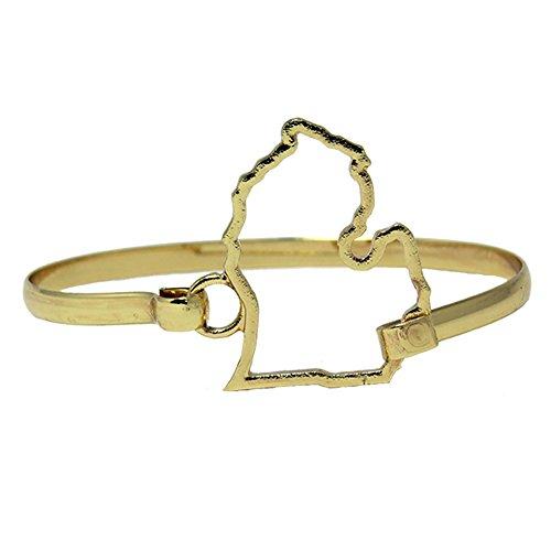 Bracelet Calypso Studios - Calypso Studios Inc. Michigan Bracelet State Shape Bangle Goldtone Patriotic