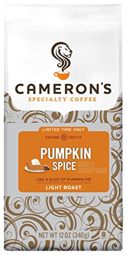 Cameron's Coffee Holiday Roasted Ground Coffee Bag, Flavored, Pumpkin Spice, 12 Ounce