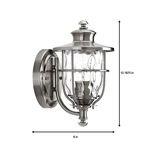 (Beacon Collection Wall-Mount 1-Light Outdoor Stainless Steel Lantern)