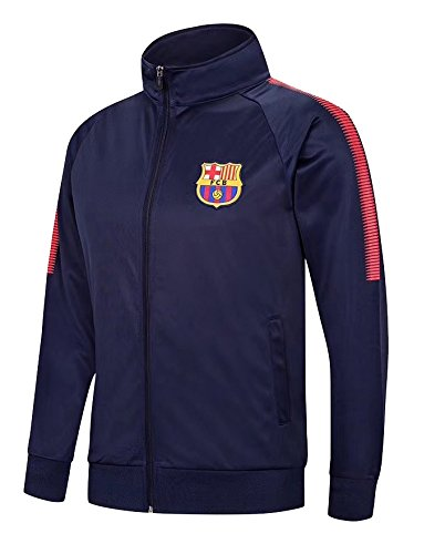Barcelona Jacket Zip Track Tracksuit Soccer Football Adult Sizes – DiZiSports Store