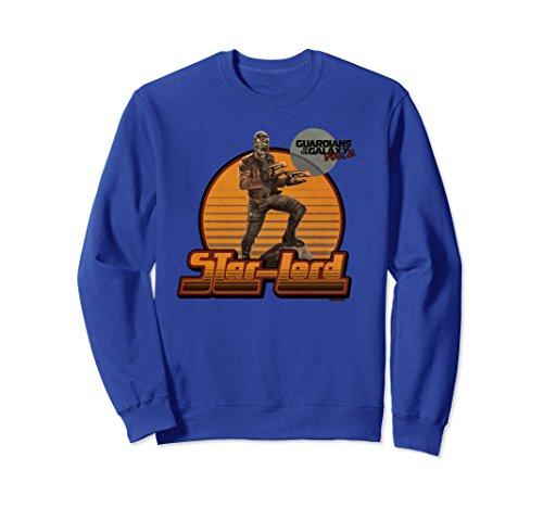 1970s Sweater Mens (Unisex Marvel Guardians Vol2 Star-Lord Retro 70s Graphic Sweatshirt Medium Royal Blue)