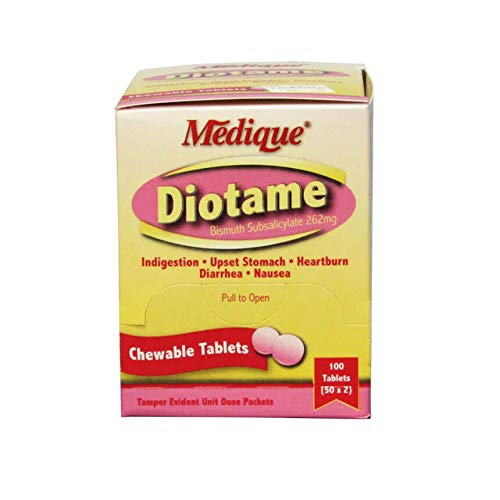 Medique Diotame Tablets, Box of 100 Chewable - Action Chewable