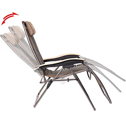Timber Ridge Oversized XL Padded Zero Gravity Chair - Earth