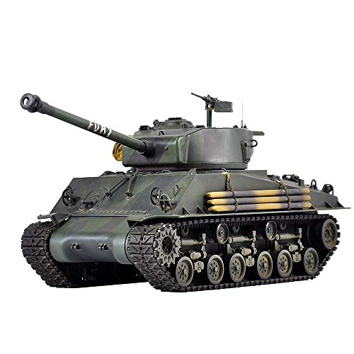 HOOBEN 1:16 U.S. Fury M4A3E8 Sherman Medium Tank ARTR Assembled & Painted Ready to Run FPV Version [D6603FV]