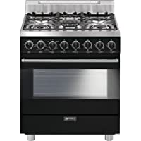Smeg C30GGNU 30 Pro Style Freestanding Gas Range With 5 Sealed Burners 3.55 Cu. Ft Capacity 3 Cooking Modes Gas Convection Mode Broil Mode and Automatic Electronic Ignition in
