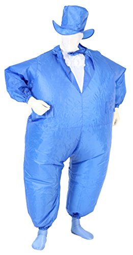 Tuxedo Tux Adult Royal Blue Inflatable Chub Suit Costume -