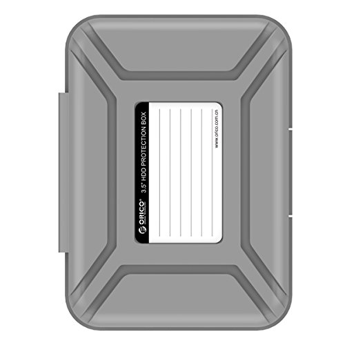 """ORICO Hard Drive Case 3.5, Protective Storage Case for 3.5"""" HDD Portable, Anti-Static, and Anti-Shock - Gray"""