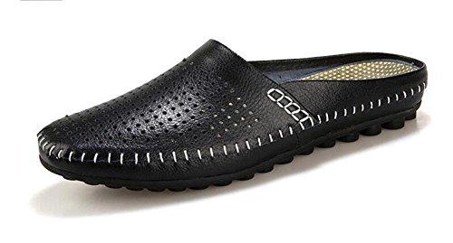 Hombres Ponerse Holgazanes Mocasines Calza Los Zapatos Ocasionales De Los Deslizadores Del Verano 2017 Que Perforan Los Zapatos Huecos Calza Las Sandalias De Los Zapatos De Los Hombres Black