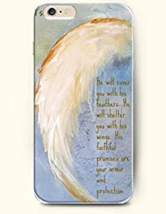Case with the Design of He will cover you with his feathers he will shelter you with his wings his faithful promises are armor and protection Case for Apple iPhone Iphone 5/5S (2014) Verizon, AT&T Sprint, T-mobile