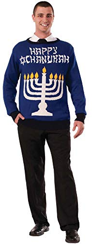 Forum Novelties Men's Menorah Chanukah Sweater, Multi, Large]()