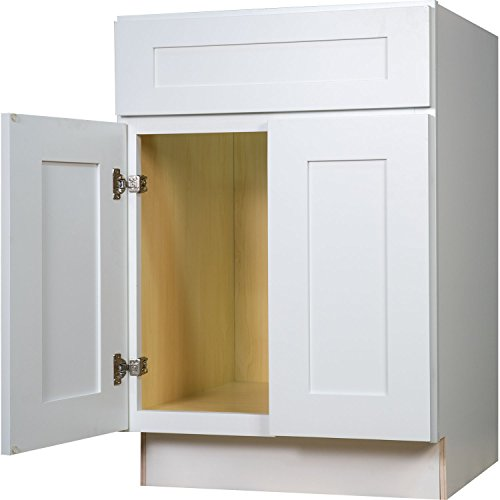 Ready To Assemble Kitchen Cabinets Made In Usa: Everyday Cabinets 27 Inch Base Cabinet In Shaker White