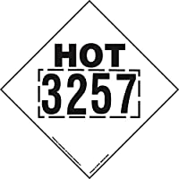 Labelmaster TAGHOT32 Hot 3257 Marking Placard, 273 mm x 273mm, Tagboard (Pack of 25)
