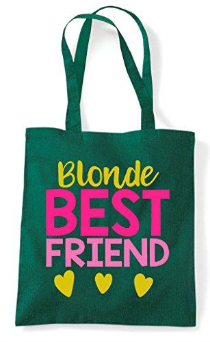 Bag Friend Matching Statement Bff Tote Green Friends Blonde Best Shopper Dark A0xpx6