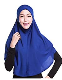 GladThink Womens Muslim Hijab Scarf With More colors Blue