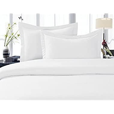 Elegant Comfort® 1500 Thread Count Wrinkle,Fade and Stain Resistant 4-Piece Bed Sheet set, Deep Pocket, HypoAllergenic - King White