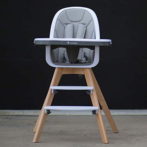 Be Mindful Modern High Chair with Grey Pad ()