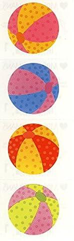 Mrs. Grossman's Stickers - Beach Ball - Beachball - 4 Strips supplier:stuffgirl04 - Mrs Grossmans Sticker Strips