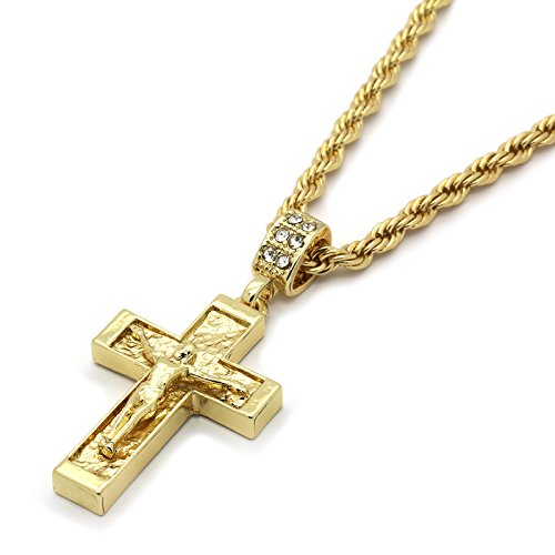 d Tone Crucifix Cross Pendant 24