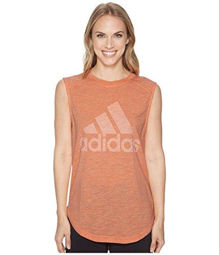 (adidas Women's Winner Muscle Tank Top Chalk Coral X-Small)