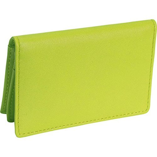 Royce Leather Deluxe Card Holder (Key Lime Green)