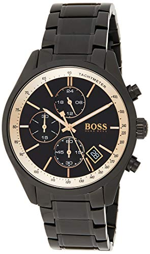 BOSS Unisex Chronograph Quartz Watch with Stainless Steel Strap 1513578