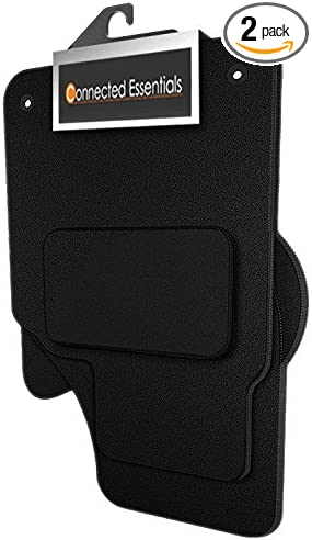 2010 Deluxe Black with Black Trim Connected Essentials CEM500 Car Mat Set for Wind