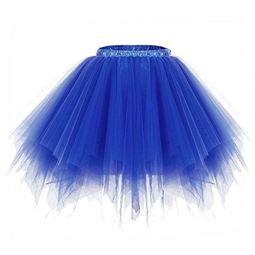 Swing Dance Halloween Costume (Apiidoo Women's Ballet Bubble Tutu Costume Vintage Petticoat Layered Dance Skirt Blue)