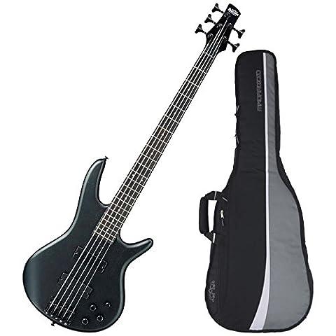 Ibanez Gio GSR205 5-String Electric Bass (Weathered Black) w/ Gig Bag (Bass Gig Bag Ibanez)