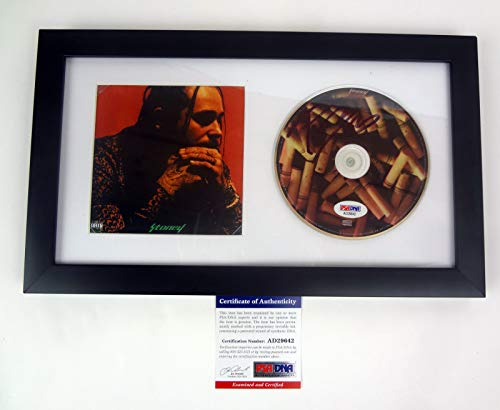 Post Malone Stoney Signed Autograph CD Framed PSA/DNA COA B