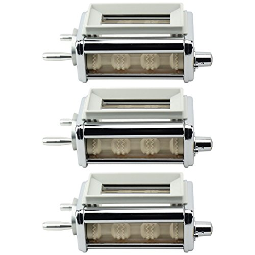 Ravioli Maker Attachment - 3 Pack Felji KRAV Ravioli Maker and Cutter Attachment for KitchenAid Stand Mixers