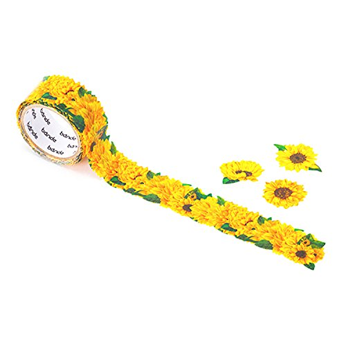 Polar 6 Light Single (Bande Masking Roll Sticker Masking Tape Mini Sunflower for Scrapbooking DIY (BDA234))