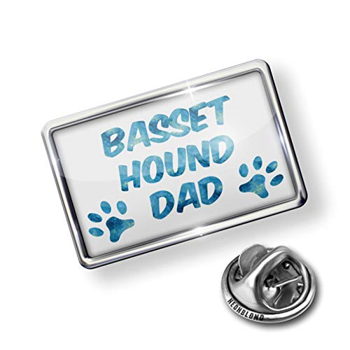 NEONBLOND Pin Dog & Cat Dad Basset Hound