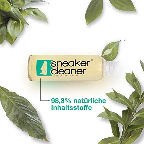 Sneaker Cleaner - kit de nettoyage pour chaussures, 250ml d'agent nettoyant avec 2 brosses pour matériaux sensibles et… 6