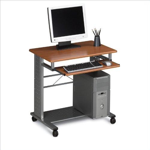 Safco Products 945MEC SOHO Mobile Workstation, Medium Cherry/Metallic Gray