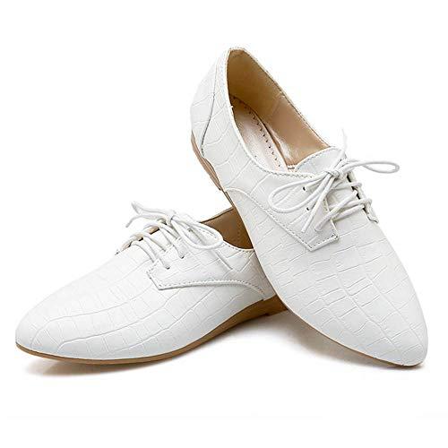 Pointu RAZAMAZA à Lacets Chaussures Femmes Blanc 5qYTPwqOr
