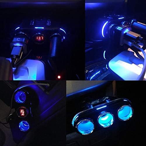 Encendedor del coche del enchufe del zócalo conect For el teléfono MP3 DVR Accesorios de LED del cigarrillo del USB del adaptador del cargador 3.1A 100W detección 12V-24V encendedor del coche del ench dloLGqvf